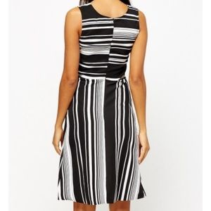 Dresses - Stripe dress black and white size xsmall