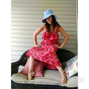 Dresses & Skirts - Vintage handmade tie dye flounce top set