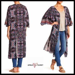 Sweaters - Festival Kimono Long Wrap Cardigan