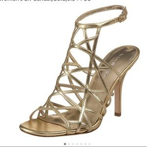 Via Spiga Metallic Caged Sandals clearance online official site pre order sale online cheap view buy cheap visa payment RLXdrtR