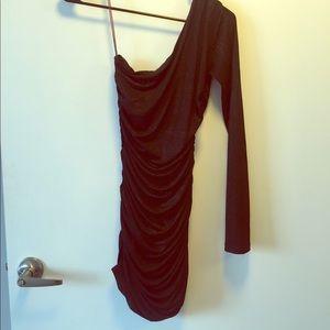*UNAVAILABLE* One Shoulder Black Club Dress (XS)