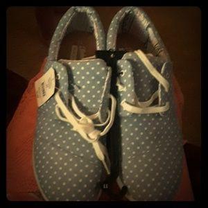 *final price* Blue polka dot sneakers