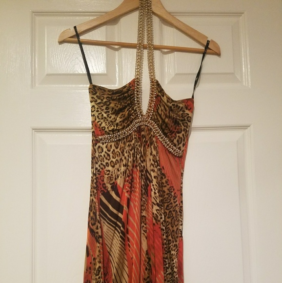 Sky Dresses & Skirts - Sky mini dress with crystal straps - EUC worn twic