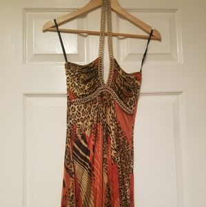 Sky Dresses - Sky mini dress with crystal straps - EUC worn twic