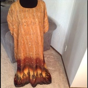 "52"" long 'caftan' style dress"