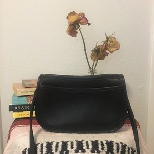 small black leather Coach purse