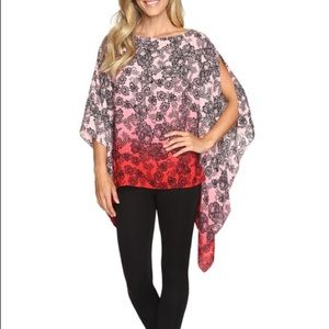 Vince Camuto Pink Red Black Top NWT $99