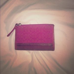 Coach change purse with key ring