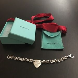 Authentic Tiffany & Co. heart tag bracelet