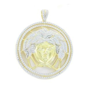 Versace Medusa Pendant 14k Gold Plated 925 Silver