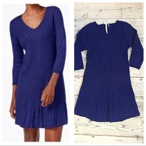 NY Collection Blue Petite Cable Dress🍍