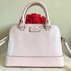  kate spade blush pink satchel 