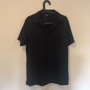 Sligo black short sleeve golf polo