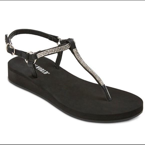 daa11509e Jams World Aloha Sparkle T Strap Wedge Sandal
