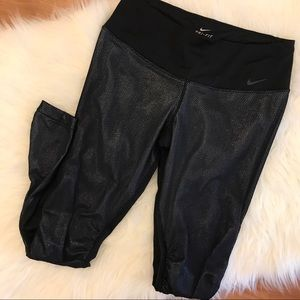 Nike Sparkle & Mesh Dri-Fit Leggings M