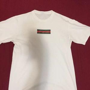 supreme shirts x gucci box logo t shirt poshmark