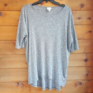 Lularoe uneven hem tunic top sz xs