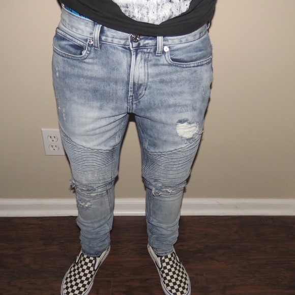 Men s PacSun Stacked Skinny Biker Jeans destroyed.  M 59729bb75c12f8e1460061c9 5f7d193ad