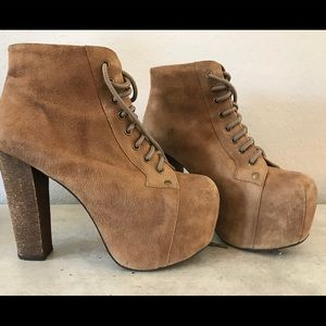 Jeffrey Campbell Suede Lita Boot TAUPE 7.5