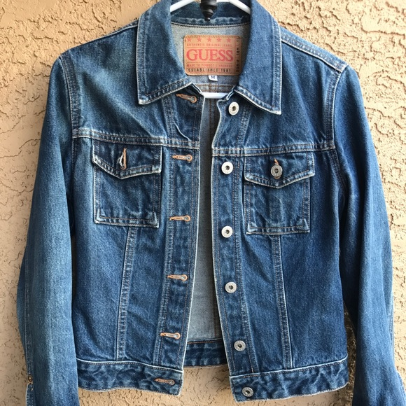 Guess Jackets Coats Jeans Jacket Vintage Sz M To S Denim Poshmark