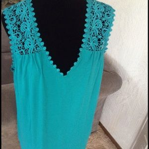 TEAL colored dressy tank top.  NWOT