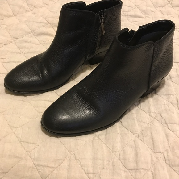 872f6dbb2f1a Sam Edelman Black Leather Petty Ankle Boots. M 5972ad1c4e8d17ca9c00a7de