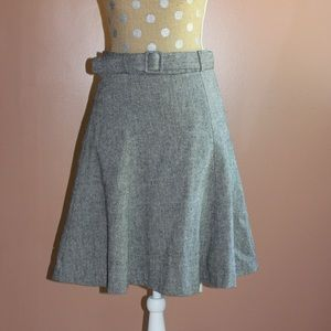 H&M belted a-line skirt