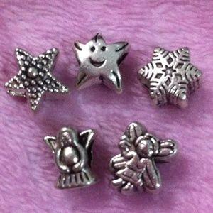 Jewelry - Assorted star, angel charm set