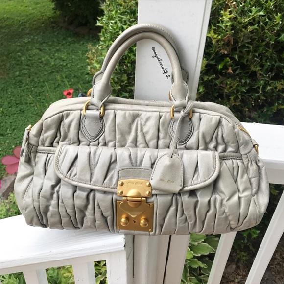 2544f54e9c83 Miu Miu Matelasse Lux Leather Bauletto Bowler Bag.  M 5972b6352de512c7c300d150