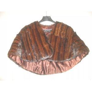 Jackets & Blazers - Vintage mink or muskrat capelet shrug. Gorgeous.