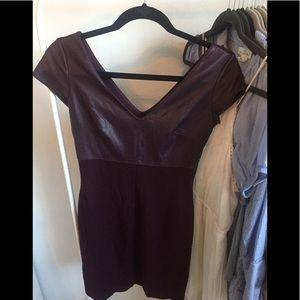 Plum Tight Fitting Dress