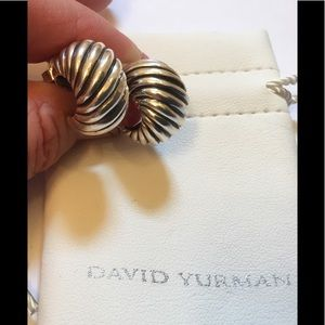 070ef00633406 David Yurman Cable Classics Shrimp Earrings Silver