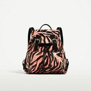 a51daf24dbb Zara Bags | Real Leather Animal Print Backpack | Poshmark
