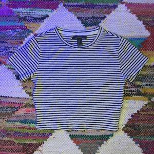 XXI Striped Crop Top