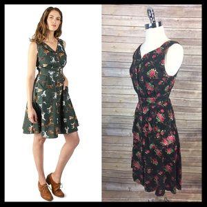 field day // handmade upcycled retro sheet dress