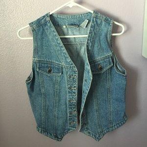 blue vintage denim vest