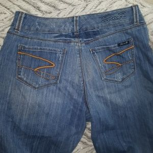 SEXY FLARE Distressed SEVEN7 Jeans ~ Wore 1x