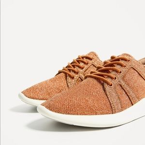 LAST DAYS! Zara orange sneakers