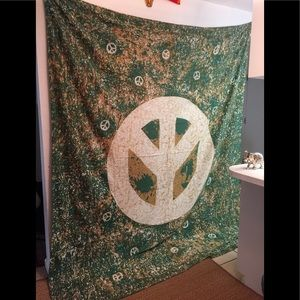 Peace sign tapestries wall hanging