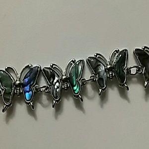 🎃5/$25  abalone butterfly bracelet