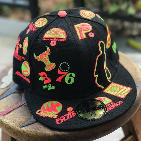 brand new f594f 44472 New Era Throwbacks Vintage Logos NBA Hat Cap 76-77