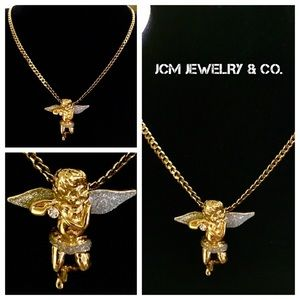 Other - 14K Gold Plated 3MM Cuban w/ Micro Angel Medallion