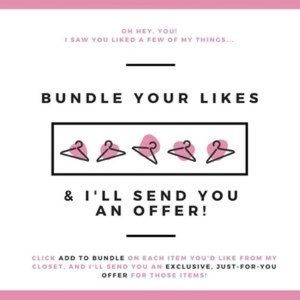 """Add your """"Like"""" to a bundle for a special discount"""
