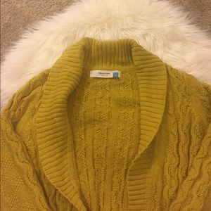 anthro sparrow covered in cables cardigan size M