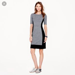 J.crew paneled stretch dress in color block