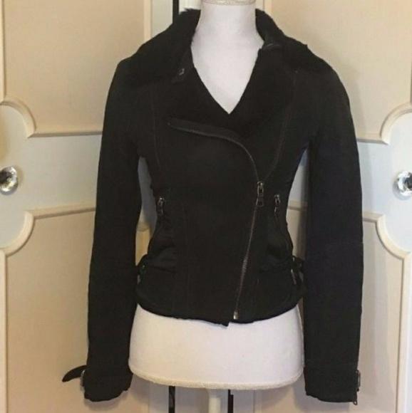 780656ba4 Armani Exchange Jackets & Coats | Ax Genuine Leather Moto Jacket ...
