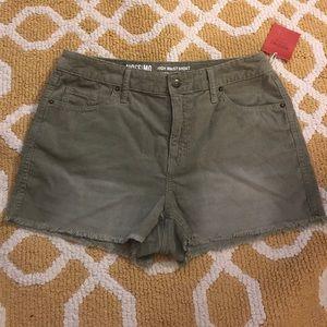 Pants - Khaki Corduroy Shorts