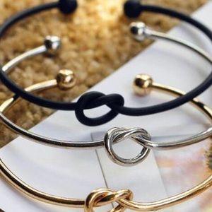 Jewelry - Kartell Barbell Heart Knot Bracelet