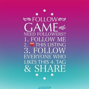 ⭐️ 1st Follow Game ⭐️