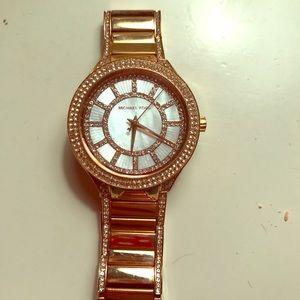 Michael Kors Rosetone and Crystal Watch